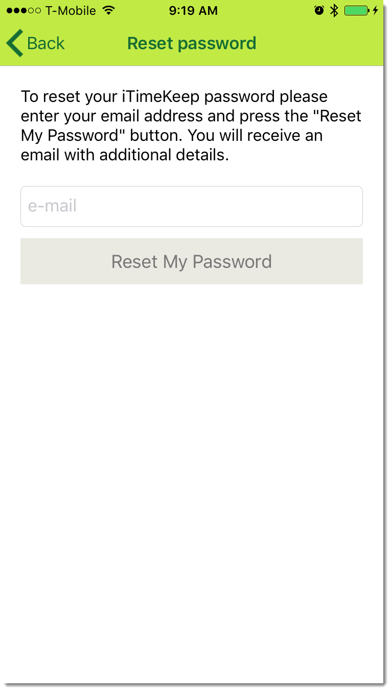 Forgot Your Password - Bellefield Systems