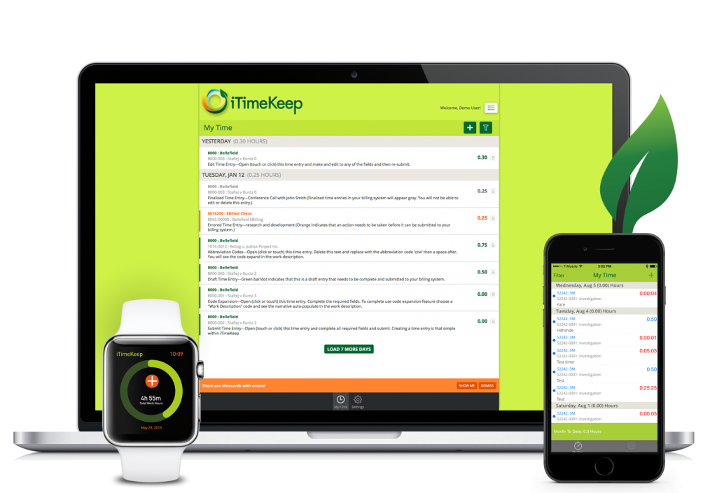 iTimekeep for Mobile | Desktop | Watch