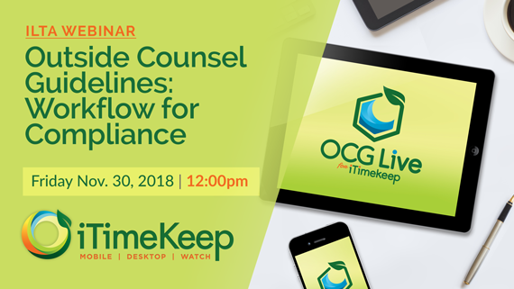[Webinar] Outside Counsel Guidelines: Workflow for Compliance