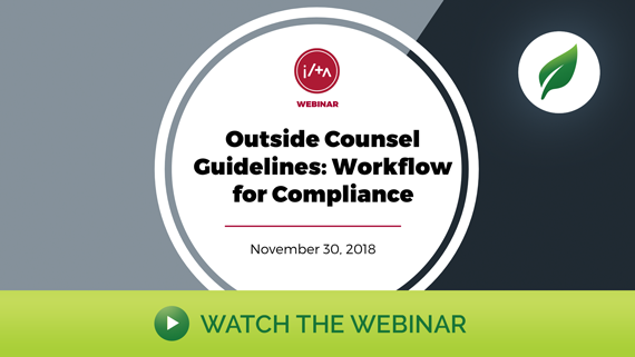 [Webinar Recording] Outside Counsel Guidelines: Workflow for Compliance