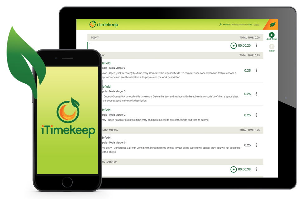 iTimekeep for Mobile Devices