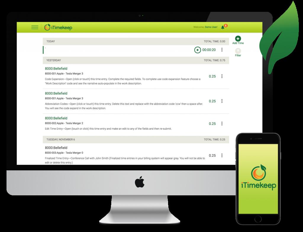 iTimekeep for desktop and mobile
