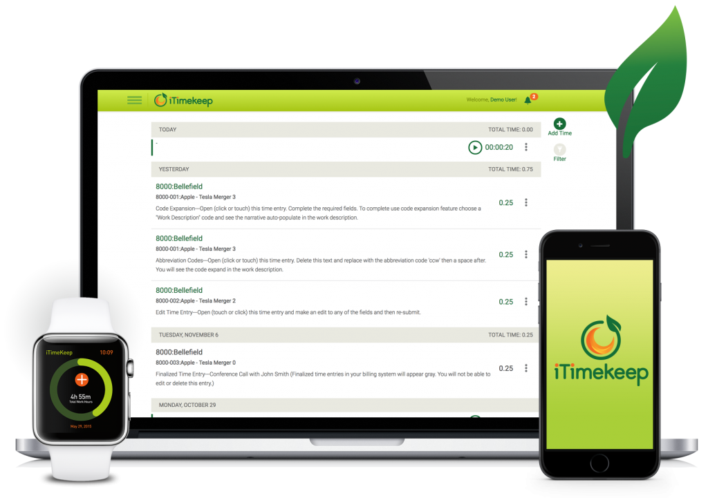 iTimekeep for Mobile, Desktop and Apple Watch